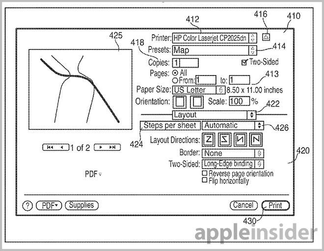 Apples Map Printing Invention Points To Enhanced Maps Service - Map print out