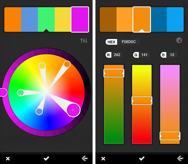 adobe's kuler ios app helps artists capture color palettes on the fly