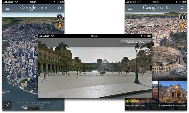 google earth gets street view and new ui in update