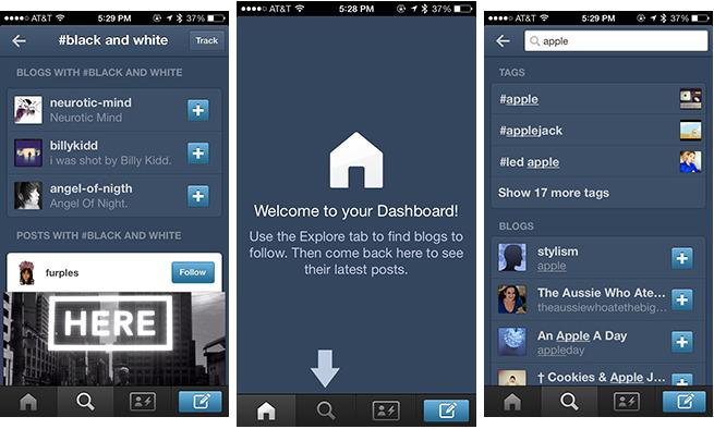 how to find a user on tumblr app