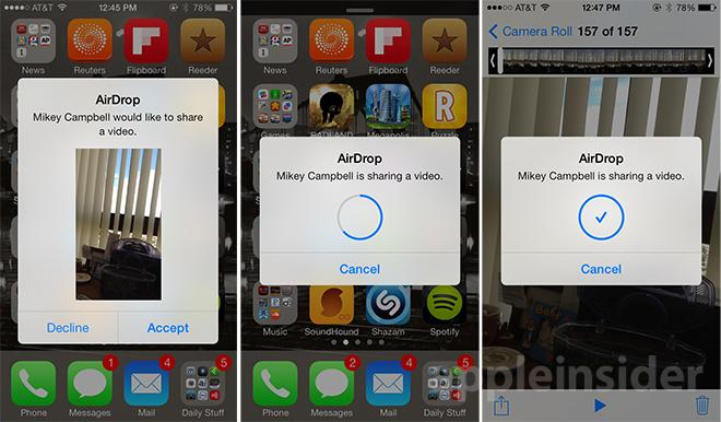 Ios 7 feature focus airdrop simplifies speedy local file transfer airdrop ccuart Choice Image