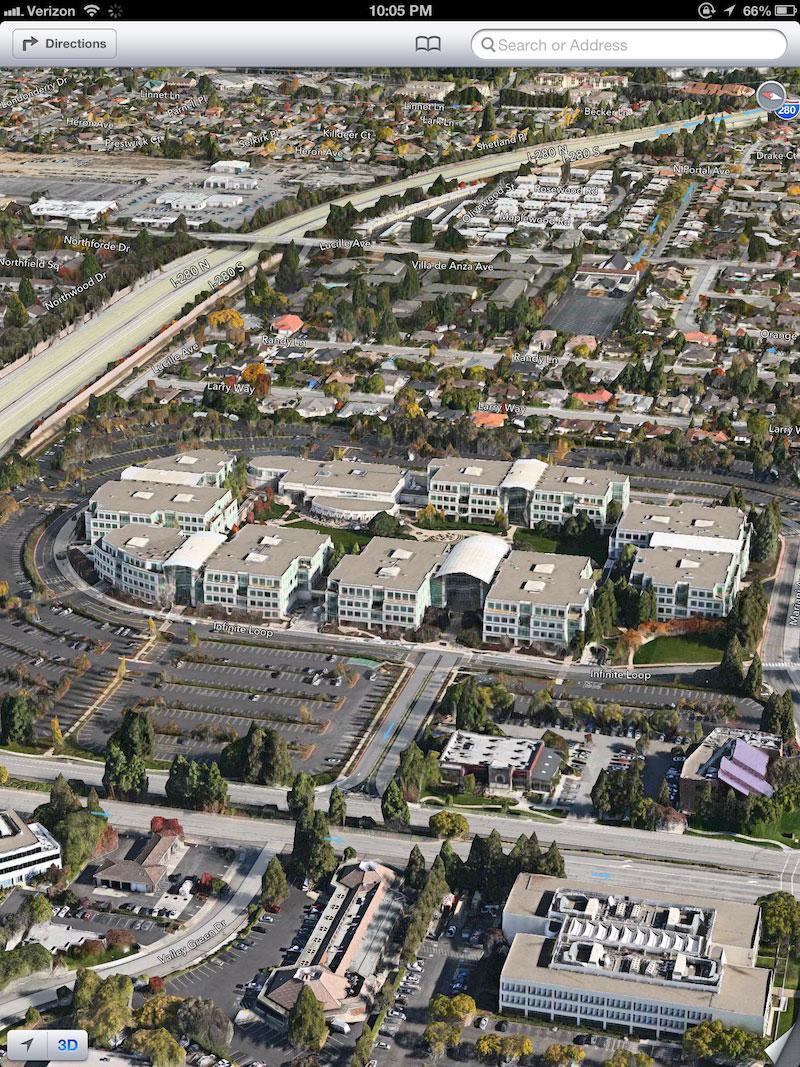 Developers Prefer Apples IOS Maps SDK Over Google Maps - Google maps aerial view
