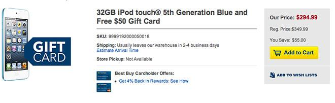 Target and best buy giving out 50 and 60 gift cards with ipad ipod touch colourmoves