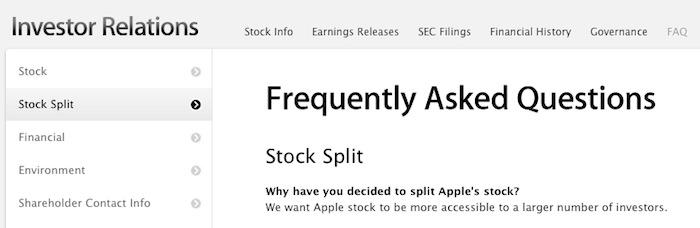 Why Apple Inc Decided To Split Its Stock 7 1