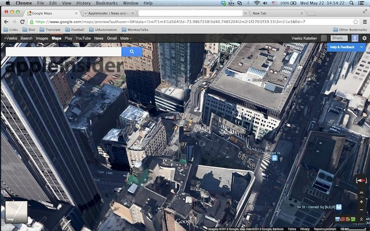 Googles New D Maps Destroy Manhattan In The Wake Of Apples Flyover - Dynamic us map flyover