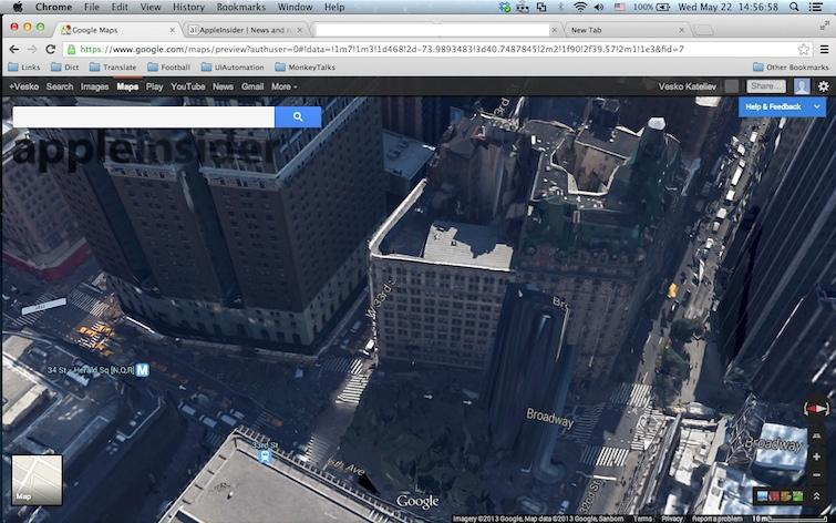 Google 39 s new 3d maps destroy manhattan in the wake of Google 3d software