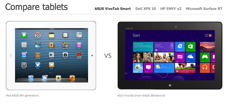 Microsoft caught lying about tablet size in comparison to Apple's iPad