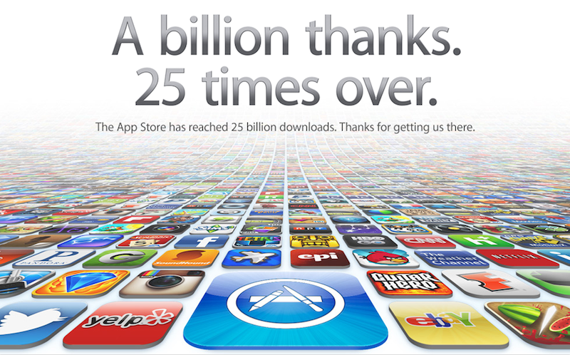 apple s app store reaches 25 billion download milestone