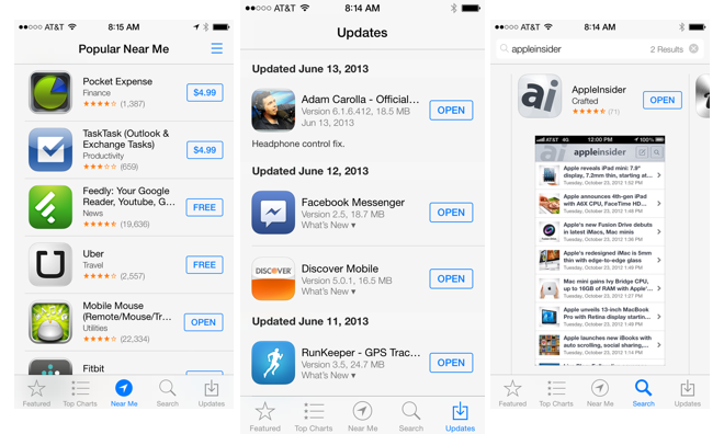 Inside Ios 7 Apple 39 S New App Store Simplifies App