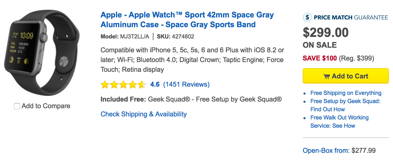 Best Buy drops Apple Watch pricing to as low as $249 with new wave ...