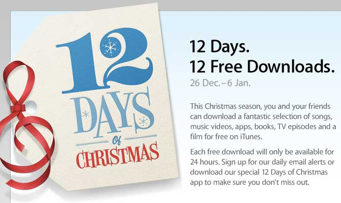 12 days of christmas apple app gifts to grow