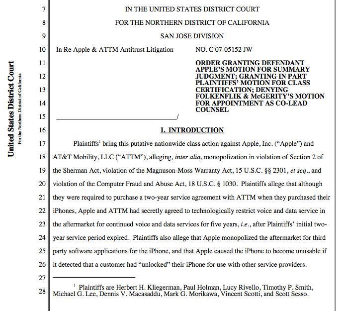 Apple Att Iphone Exclusivity Lawsuit Granted Class Action Status