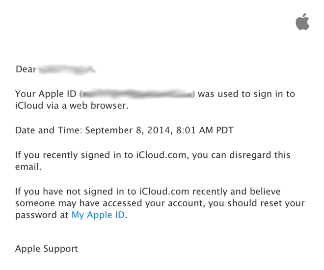 Apple now emails users whenever their iCloud account is accessed ...
