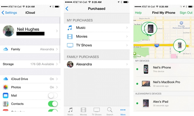 How to start an iOS 8 Family Sharing account to share apps ...