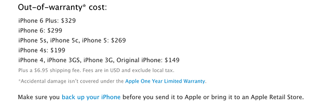 Pricing For The IPhone Models Released Today Revealing Out Of Warranty Fixes Could Cost Up To 299 6 And 329 Plus