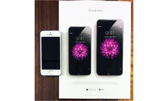 New Apple print ad shows actual iPhone 6 and iPhone 6 Plus ...