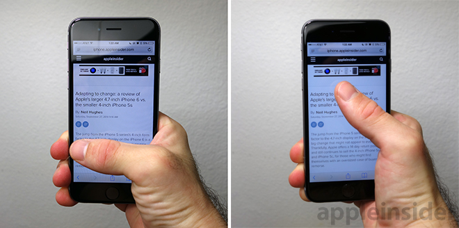 going big a review of apple s new 4 7 iphone 6 vs the 5 5 iphone