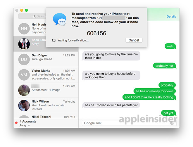 how to get messages on mac