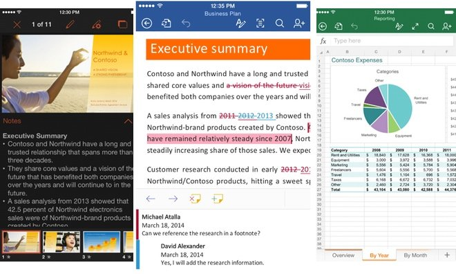 Microsoft Adds ICloud Save Support To Its Office Suite For IOS