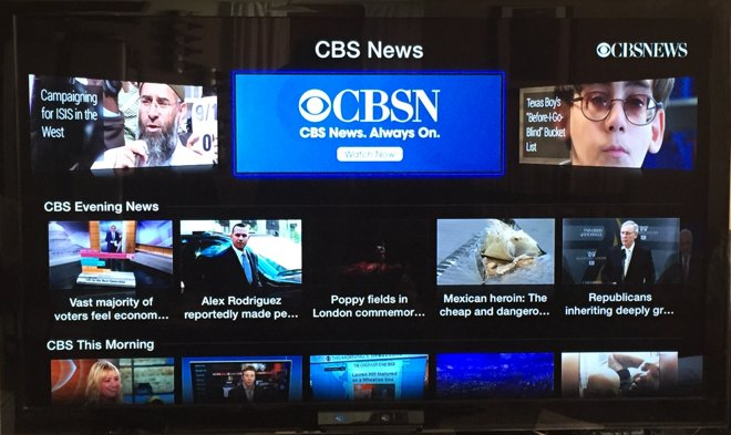 cbs news channel launches on apple tv with new streaming cbsn network