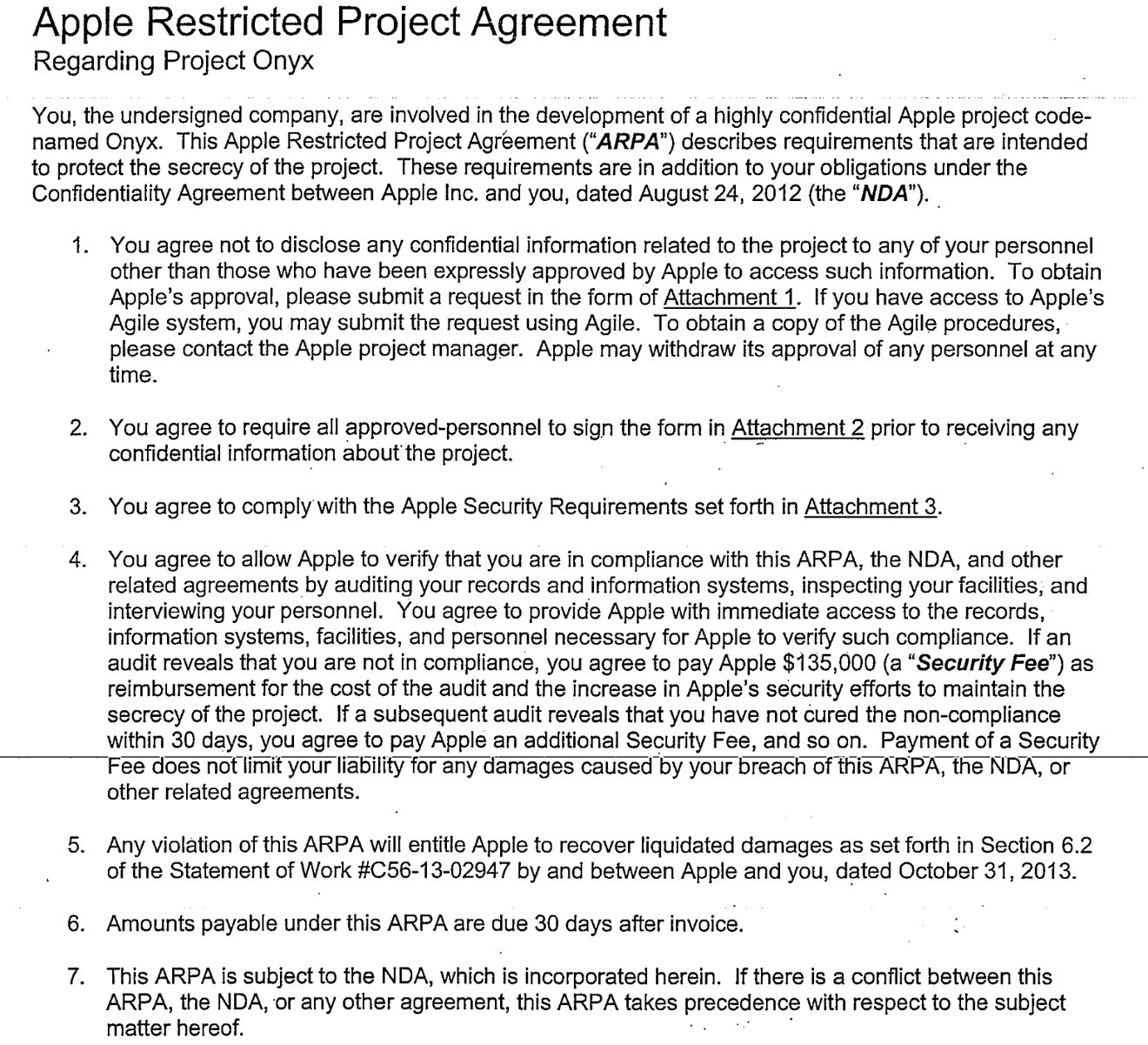 Inside Apples secret confidentiality agreements Code names – Confidentiality Statement