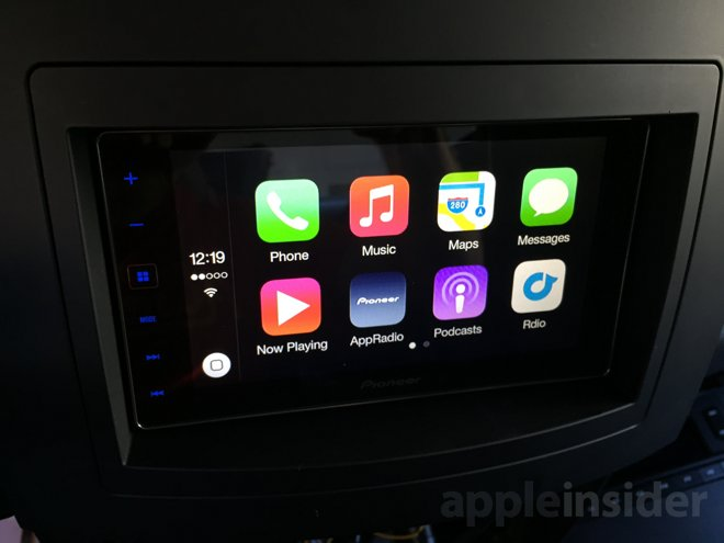 review pioneer 39 s appradio 4 with built in support for apple carplay. Black Bedroom Furniture Sets. Home Design Ideas