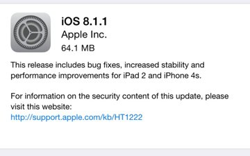 Apple releases iOS 8.1.1 with performance improvements for iPad 2 ...