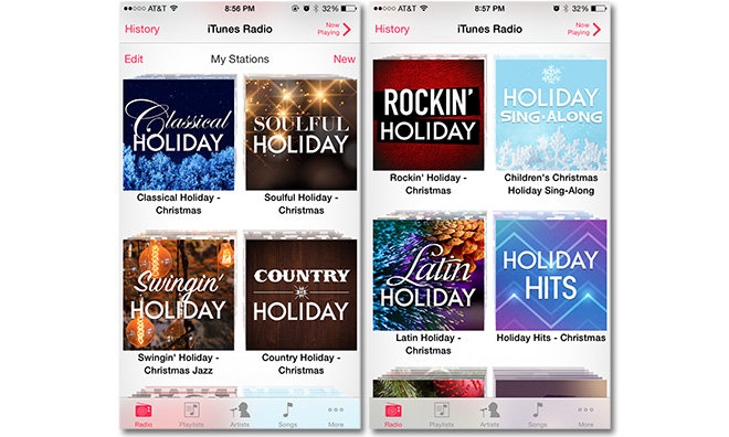 apple on thursday activated a number of curated itunes radio stations playing nothing but christmas tunes for the holidays including tailored - Country Christmas Radio