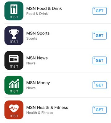 microsoft launches new msn apps for news health sports finance food