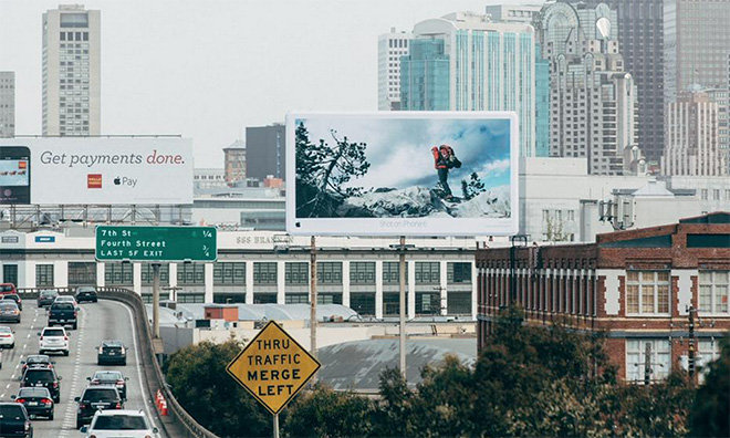 Source: Apple Insiders - This campaign by Apple went viral and they portrayed it in the best way too, through outdoor advertising.