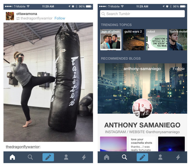tumblr wikipedia overhaul apps for ios with new looks and