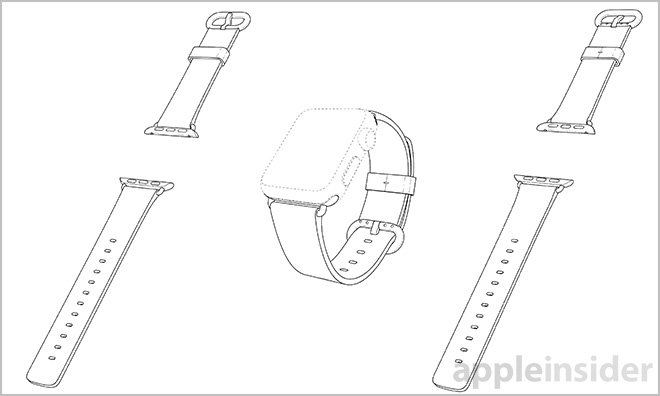 Apple patents Apple Watch Sport Band, Classic Buckle and Link ...