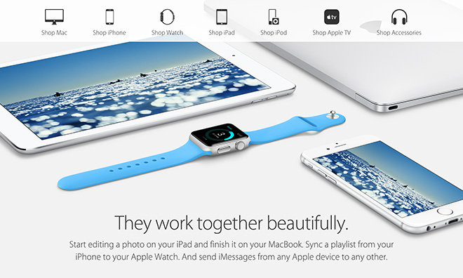 Apple starts advertising Watch as part of connected iOS ...