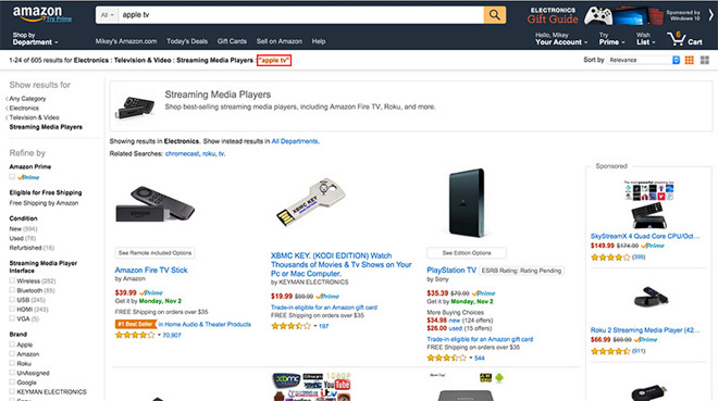 Amazon Yanks Apple TV And Chromecast From Digital Shelves