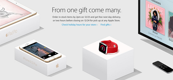 Apple Store to offer free overnight shipping on Dec. 23, late-notice ...