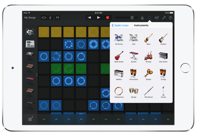 apple updates garageband for ios with live loops inspired by dj rh appleinsider com iPad GarageBand Midi iPad GarageBand Review