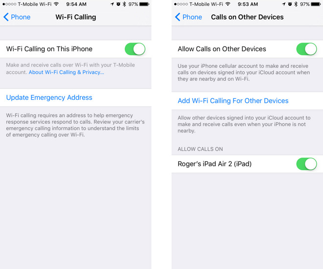 how to enable wi fi calling in ios 9 3 for verizon at t sprint and rh appleinsider com iPhone 4 Activation without iTunes Apple iPhone Activation
