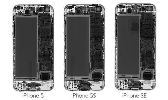 New Teardown Reveals IPhone SE Contains Display Identical To 5s Larger Battery