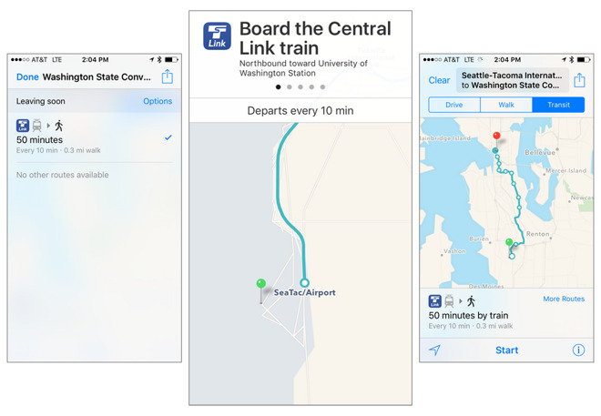 Apple brings Maps transit directions to Seattle