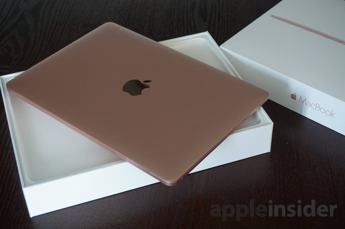 first look apple 39 s new rose gold 12 macbook with intel. Black Bedroom Furniture Sets. Home Design Ideas