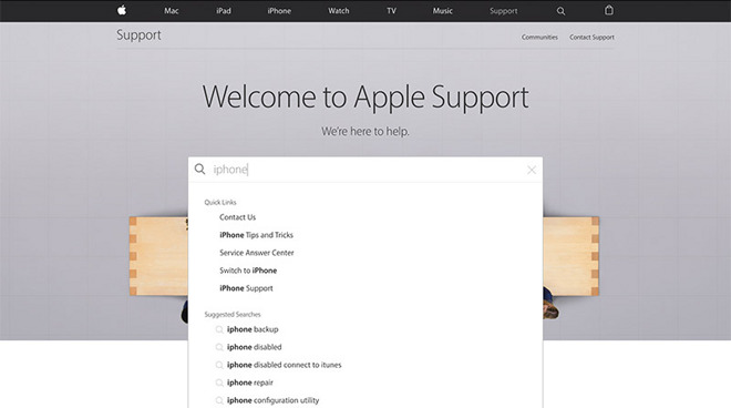 apple redesigns support website with clean layout responsive ui