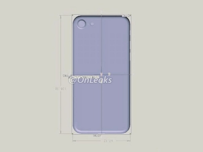 Rumored IPhone 7 Design Schematic Shows Size Similar To 6s Bigger Camera Opening
