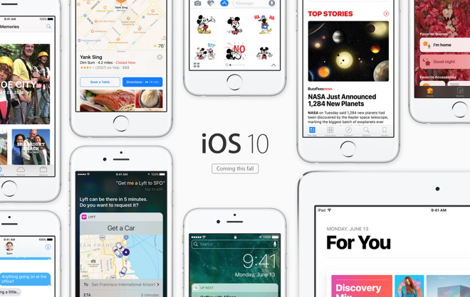 iOS 10, watchOS 3 & macOS Sierra betas debut for ...