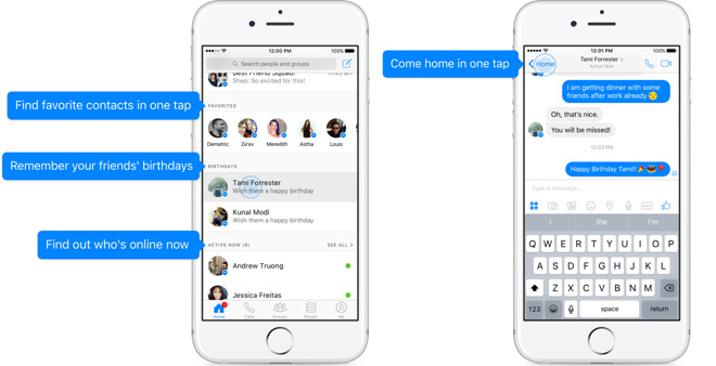 Facebook revamps messenger for ios with new tiered homescreen for Classic house vocal samples