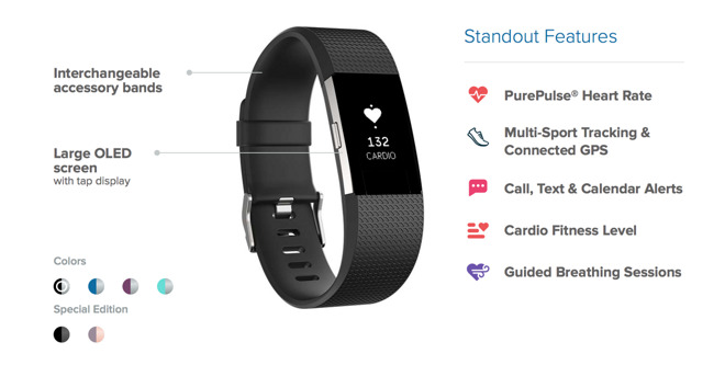 Fitbit reveals new Charge 2 and Flex 2 fitness trackers ...