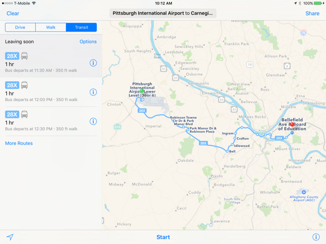 Apple Expands Maps Transit Directions To Columbus And Pittsburgh - Columbus maps