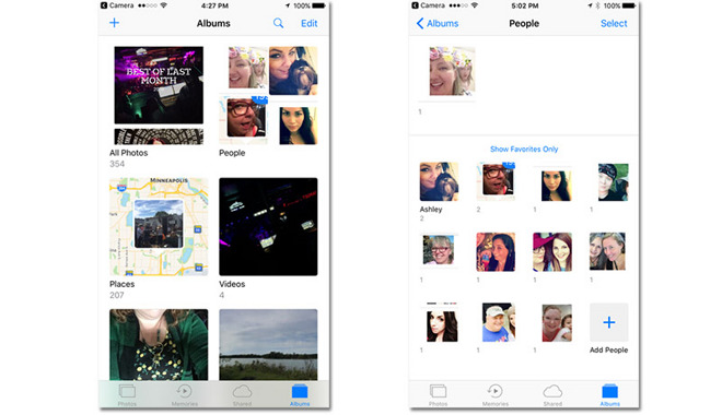 how to add photos to memories ios 10