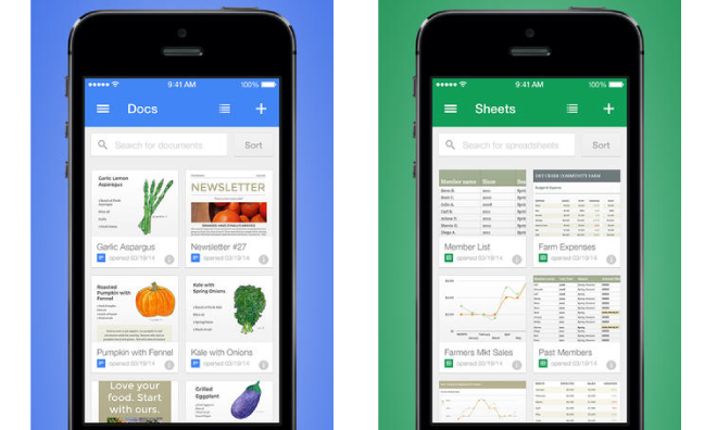 google unveils standalone ios apps for editing google docs sheets
