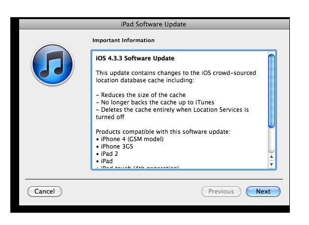 update ios iphone 3gs itunes