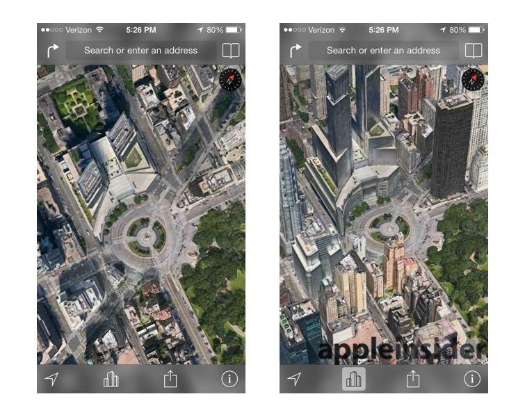 Apples IOS D Maps Leave Google Earth Nokia Maps D Looking - 3d earth maps satellite